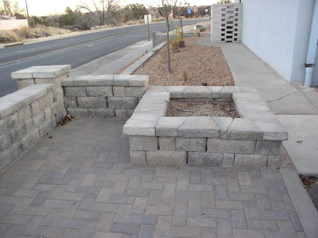 Los alamos landscaping more rock walls retaining for Stone retaining wall design